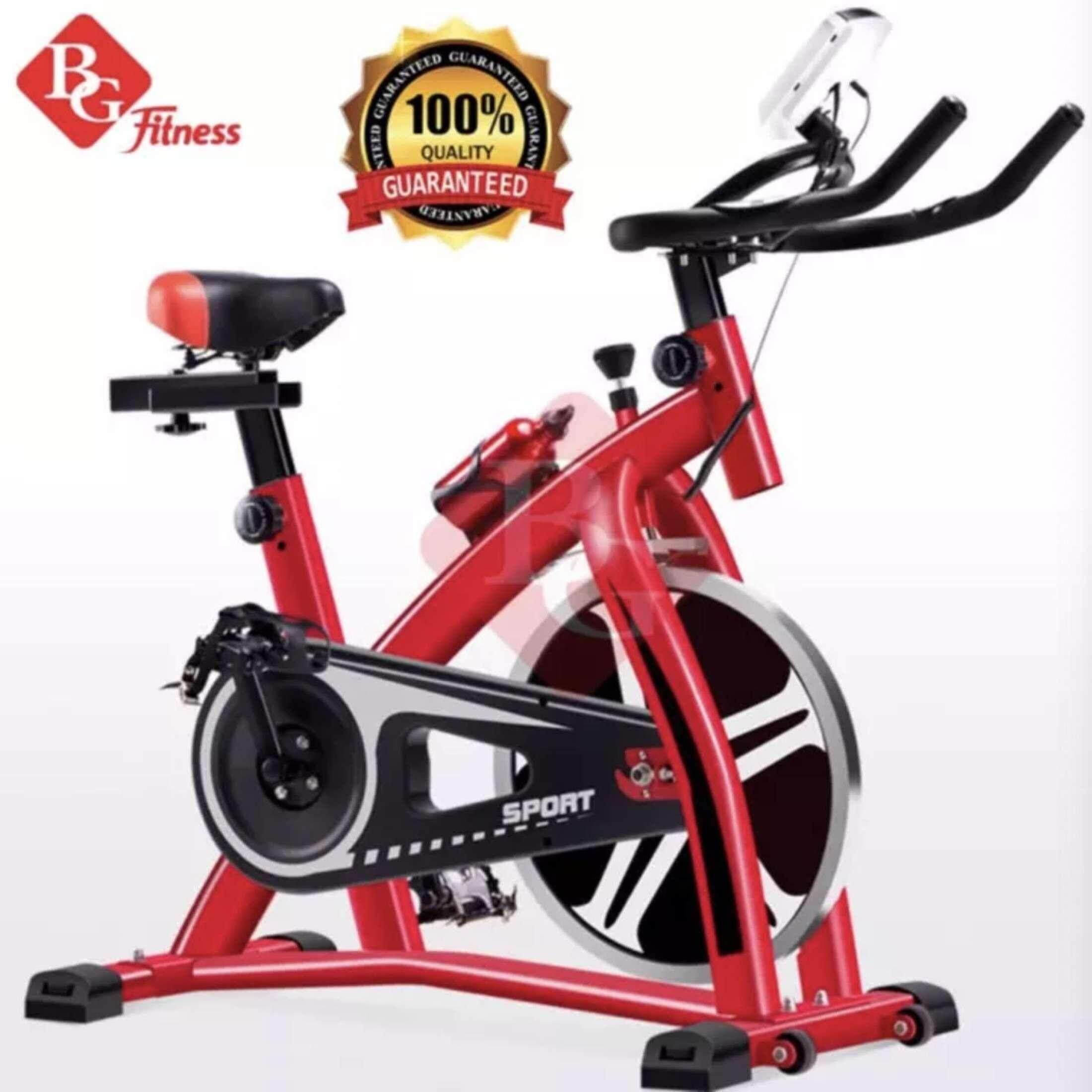 B&G จักรยานออกกำลังกาย Spin Bike พร้อมหน้าจอ LED แสดงผลการทำงาน รุ่น S300 (Red)