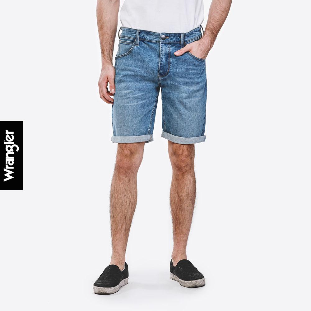 Wrangler กางเกงขาสั้น Shorts ทรงพอดีตัว Regular Fit รุ่น Wr S1131102 แรงเลอร์ กางเกงขาสั้นผู้ชาย กางเกงขาสั้น เสื้อผ้าผู้ชาย.
