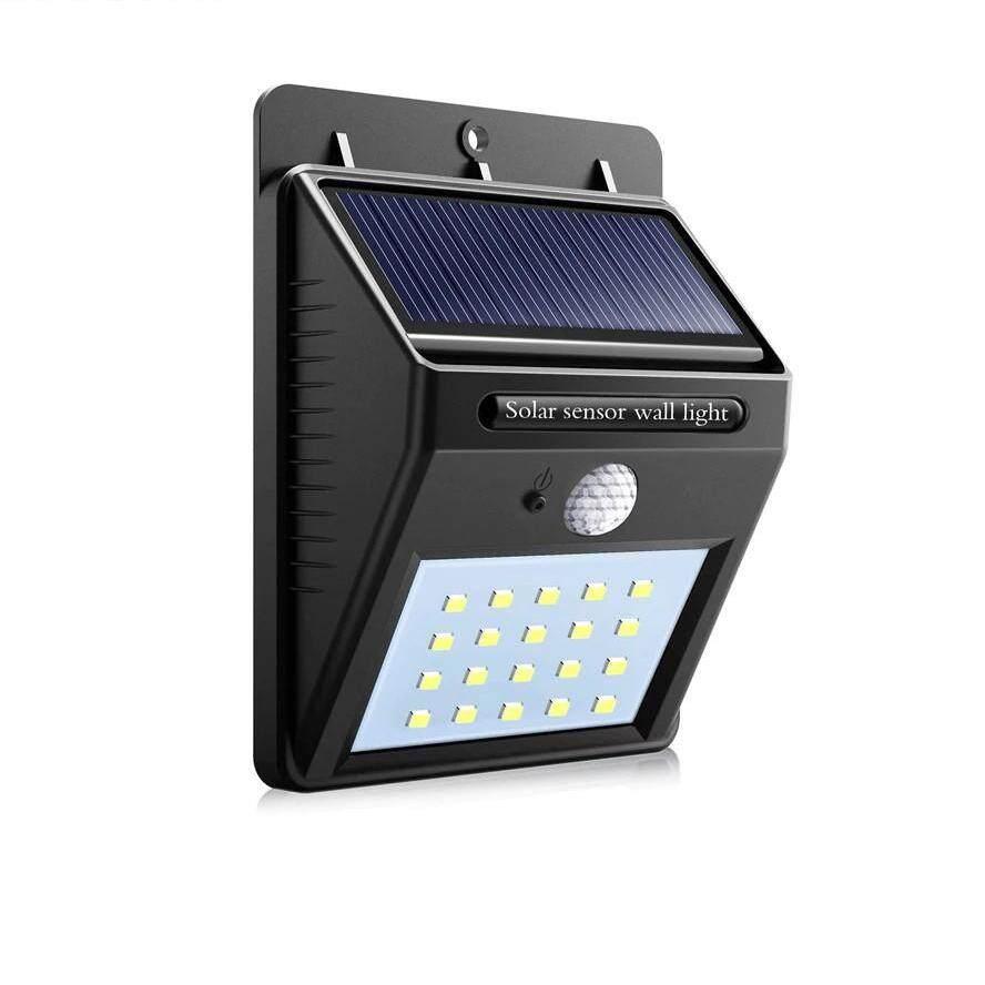 ไฟเซ็นเซอร์ ตรวจจับการเคลื่อนไหว ใช้พลังงานจากแสงอาทิตย์ ไม่จ้องชาร์จแบตหรือต่อสายไฟเลี้ยง Solar Powered Led Wall Light With Pir Motion Sensor / Cds Night Sensor Lamp Outdoor Garden Yard Home Path Walkway Security Light By My Home2019.