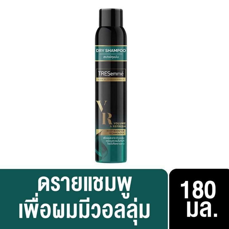เทรซาเม่ ดรายแชมพู วอลลุ่ม & รีเฟรช ผมสะอาด มีวอลลุ่ม ไม่ทิ้งคราบขาว 180 มล Tresemme Dry Shampoo Volume & Refresh 180 Ml ( ยาสระผม ครีมสระผม แชมพู Shampoo ) ของแท้.