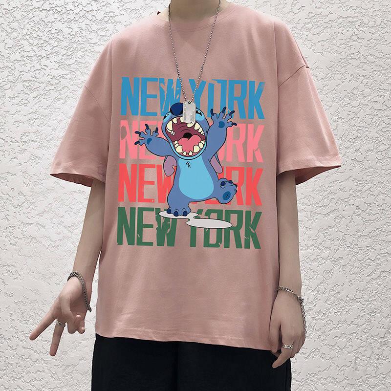 Anh trai mập áo thun đây là mùa hè mới mở áo ngắn gọn mặc đồ Hàn kiểu thời thượng cỡ lớn quần áo đẹp trai rgrgh