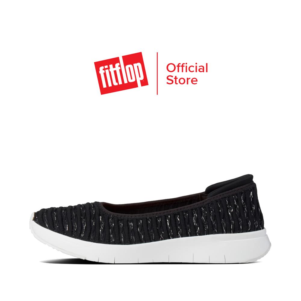 Fitflop รองเท้าสวมส้นแบนผู้หญิง Textured Knit Ballerinas รุ่น Cn9 รองเท้าผู้หญิง.