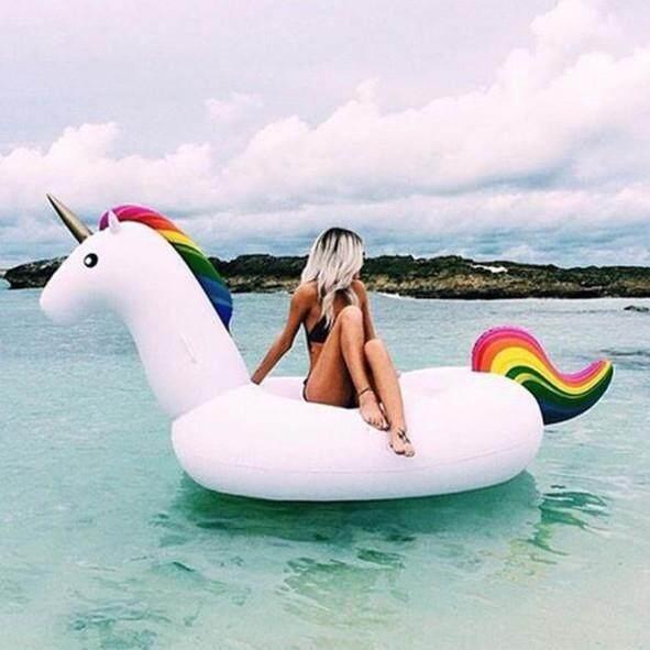 ** ห่วงยางแฟนซี แพยางเป่าลม ม้ายูนิคอร์น เรนโบว์ (Unicorn Rainbow pool float)