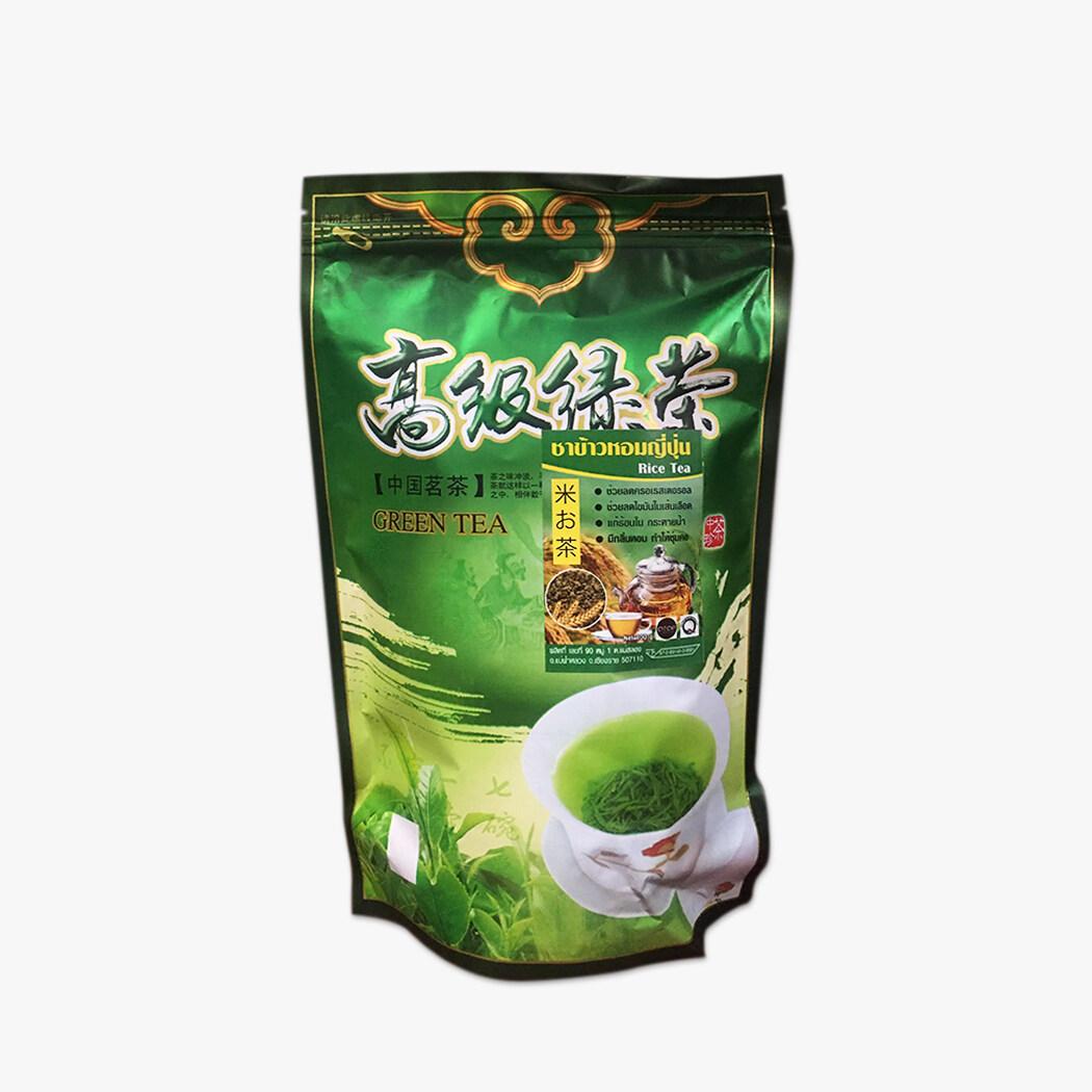 Tea - ชาข้าวหอมญี่ปุ่น (rice Tea) ชาเขียว ใบชาอบแห้ง ชา เพื่อสุขภาพ หอมพิเศษ! 100 กรัม.