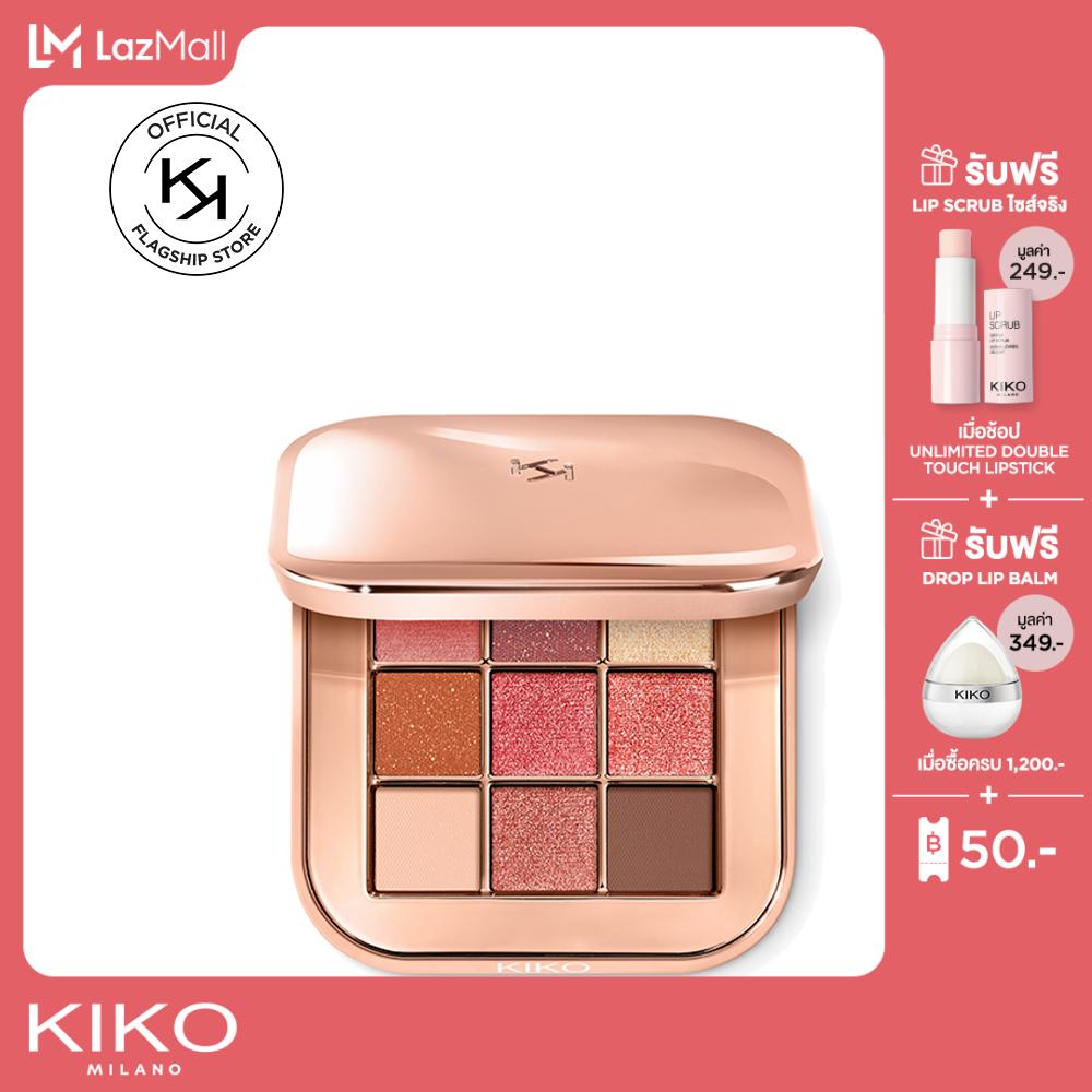 Kiko Milano Multi Finish Eyeshadow Palette มัลติ ฟินิช อายแชโดว์ พาเลท เครื่องสำอาง อายแชโดว์ชิมเมอร์.