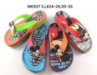 รองเท้าแตะแบบคีบสำหรับเด็ก ลายมิกกี้เมาส์ น่ารัก พื้นนุ่ม ใส่สบาย ****ร้านจัดคละสีให้ค่ะ