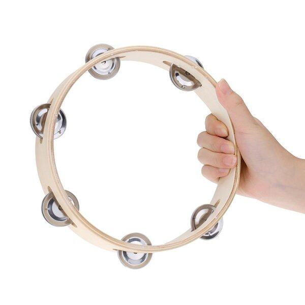 Kids 8 Hand Held Wood Headless Tambourine Bell with Metal Single Row Jingles and Wood Quality Children Educational Musical Percussion Toy for Party Dancing Games Malaysia