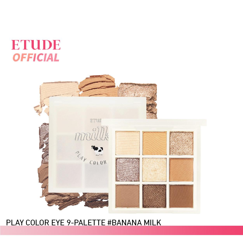 Etude [milky New Year Collection] Play Color Eyes (0.5 G X 9 Colors) อีทูดี้ (อายแชโดว์พาเลท 9 เฉดสี).