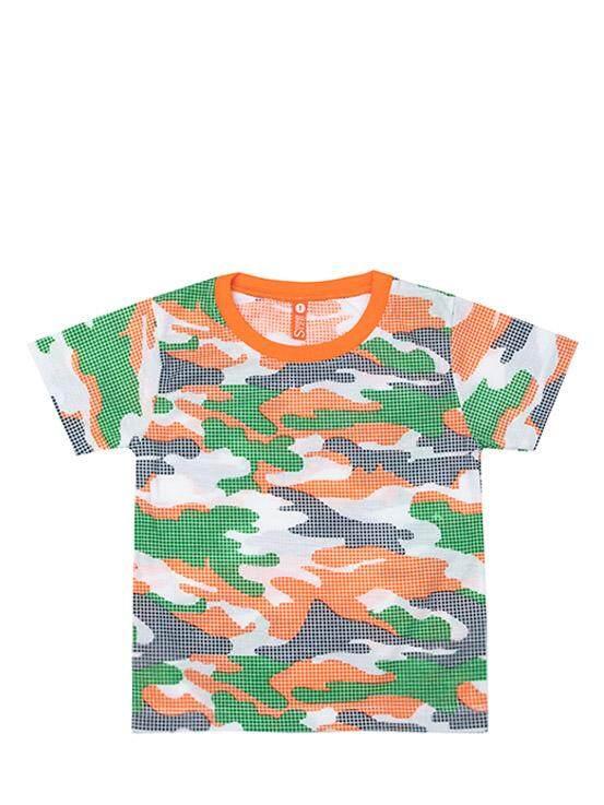 เสื้อยืดแขนสั้น สีส้ม-เขียว ไซส์ 1 ปี