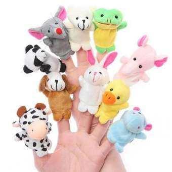 ตุ๊กตาหุ่นนิ้วมือรูปสัตว์ แพ็ค 10 ตัว ส่งฟรี-