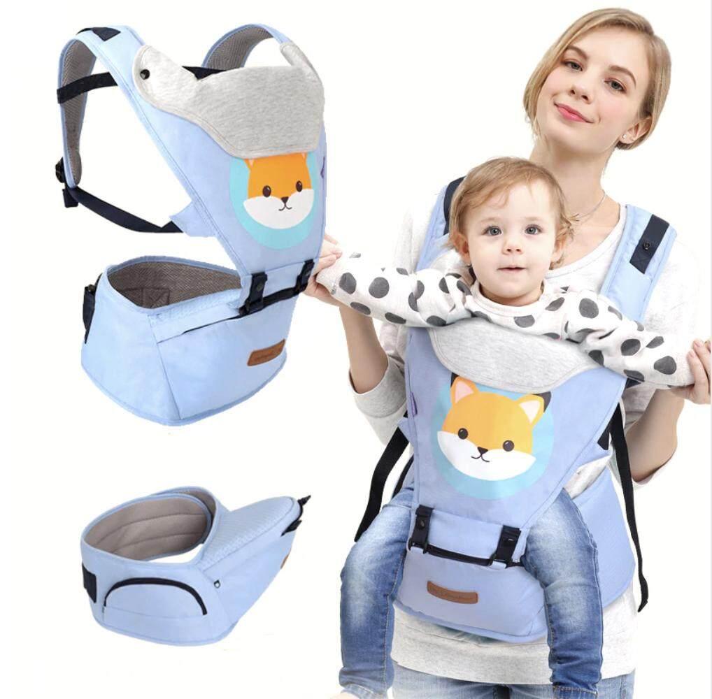 Best Baby เป้อุ้มเด็ก Baby Carriers Backpack Hipseat 4in1 สามารถนั่งและนอนได้ สะพายหน้าและสะพายหลังได้ (แรกเกิด-3ปี)/สีฟ้า