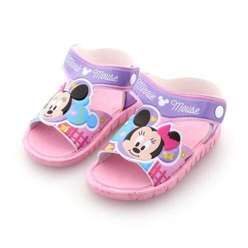 รองเท้ารัดส้นเด็ก รุ่น BC1023 ลายมินนี่เมาส์ สีชมพู ขนาด 15