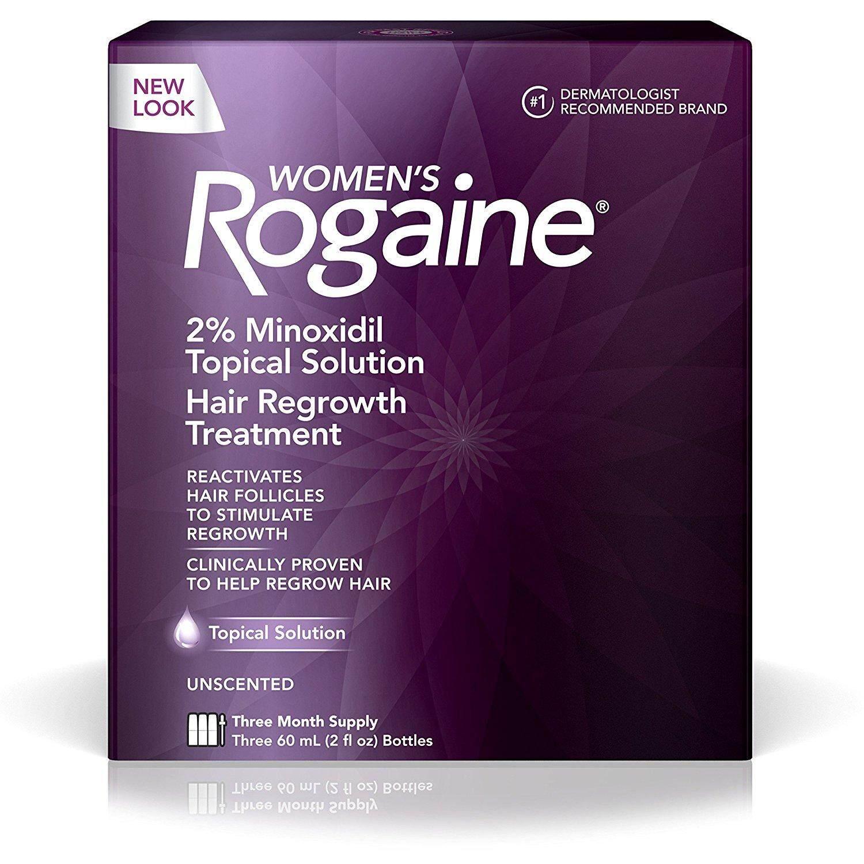 Rogaine ยาปลูกผมผู้หญิง Women Rogaine Lotion 2% ไมนอกซิดิล (ชุด 3 เดือน) Usa แท้.