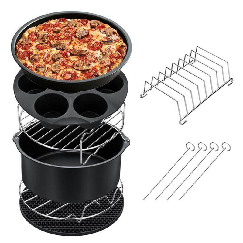 7Pcs 8 Inch Air Fryer Accessories Set Chips Baking Pizza Pan Kitchen Tool 5.2~5.8Qt