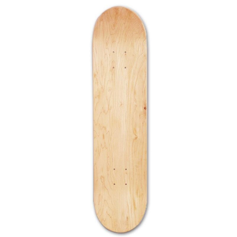 Giá bán 8Inch 8-Layer Maple Blank Double Concave Skateboards Natural Skate Deck Board Skateboards Deck Wood Maple