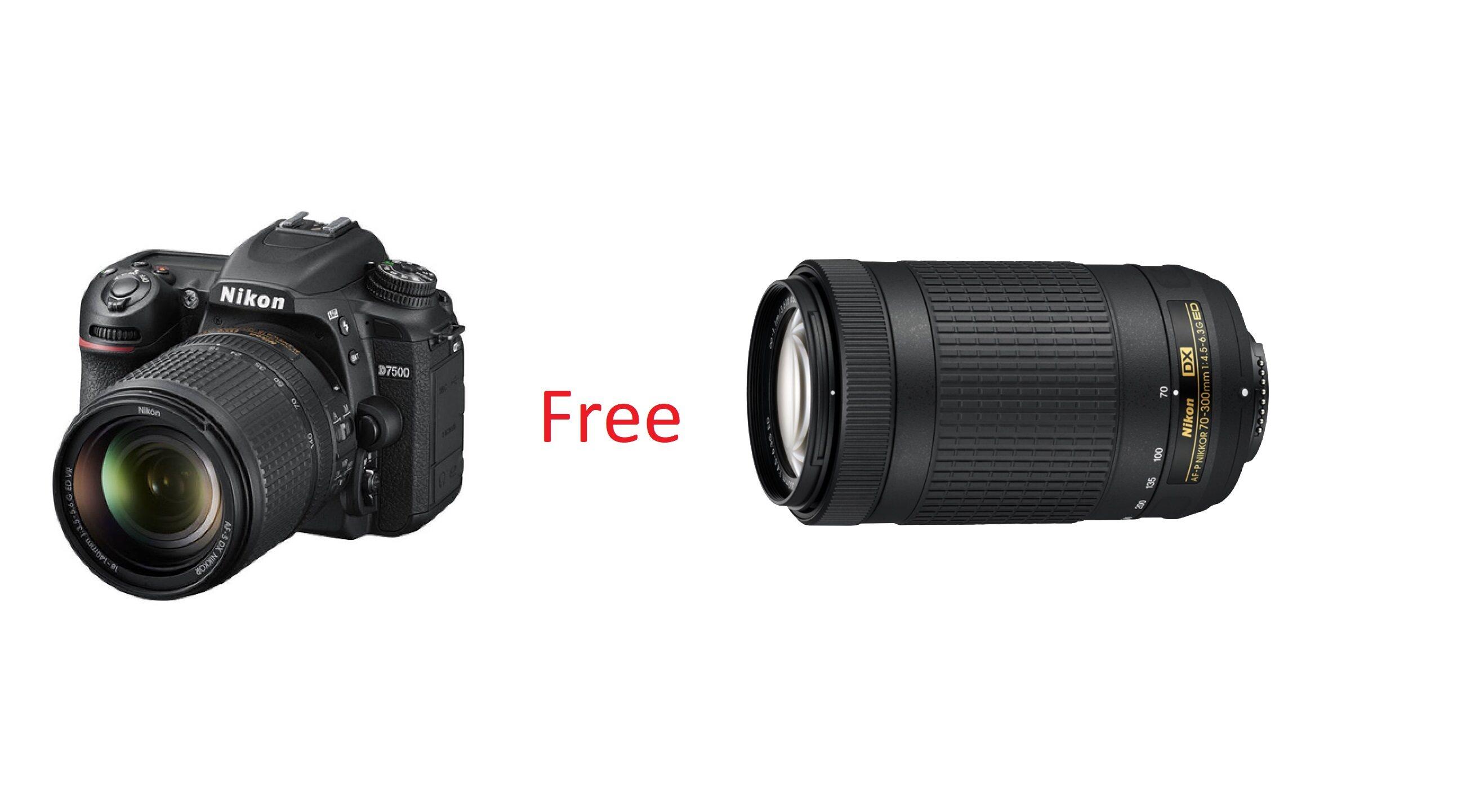 กล้องถ่ายรูป /กล้อง Nikon D7500 Sg Afp18-55 Kit + Af-S 70-300mm (exclusive Online Lazada) : Digital Slr Camera (ประกันศูนย์นิคอน 1 ปี)/dslr ผ่อน 0% สูงสุด 10 เดือน ส่งเร็ว.