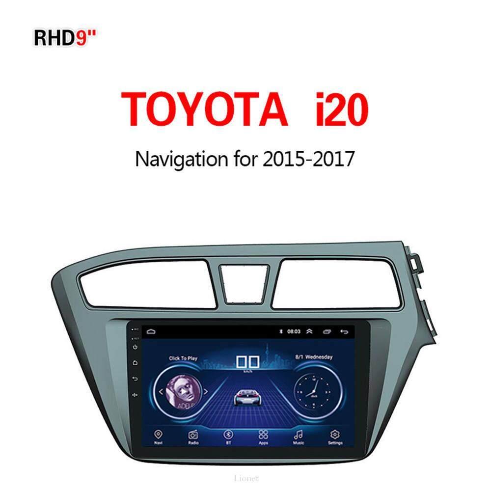เครื่องนำทาง สำหรับรถยนต์ Toyota I20 2015-2017 9 Inch Android 8.1 Wifi 1g/16g แผนที่ในการนำทาง By Gointer.
