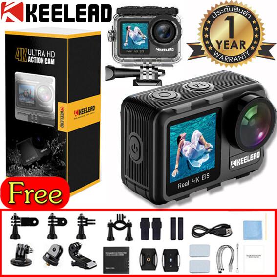 Keelead K80 กล้องaction Camera 4k 60fps เซนเซอร์ Sony กล้องกันน้ำในตัว 2 จอ มี Wifi รองรับรีโมท ของแท้ ประกัน 1 ปี.