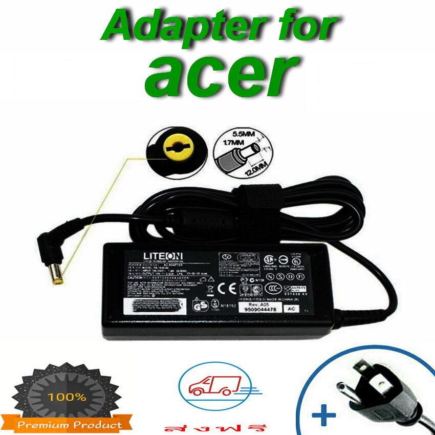 Adapter สำหรับ Acer 19v/3.42a 5.5x1.7mm สายชาร์จโน๊ตบุ๊ค สายชาร์จ ที่ชาร์แบตเตอรี่ Battery สายชาร์จโน๊ตบุ๊คราคาถูก สายชาร์จโน๊ต อะแดปเตอร์โน๊ตบุ๊ค.