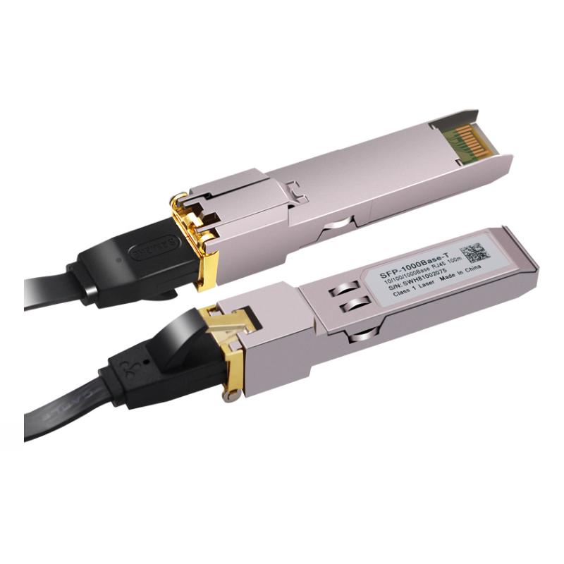 Gigabit Rj45 Sfp Module 1000mbps Sfp Copper Rj45 Sfp Transceiver Module Compatible With Cisco/mikrotik Gigabit Ethernet ( 1ตัว ).