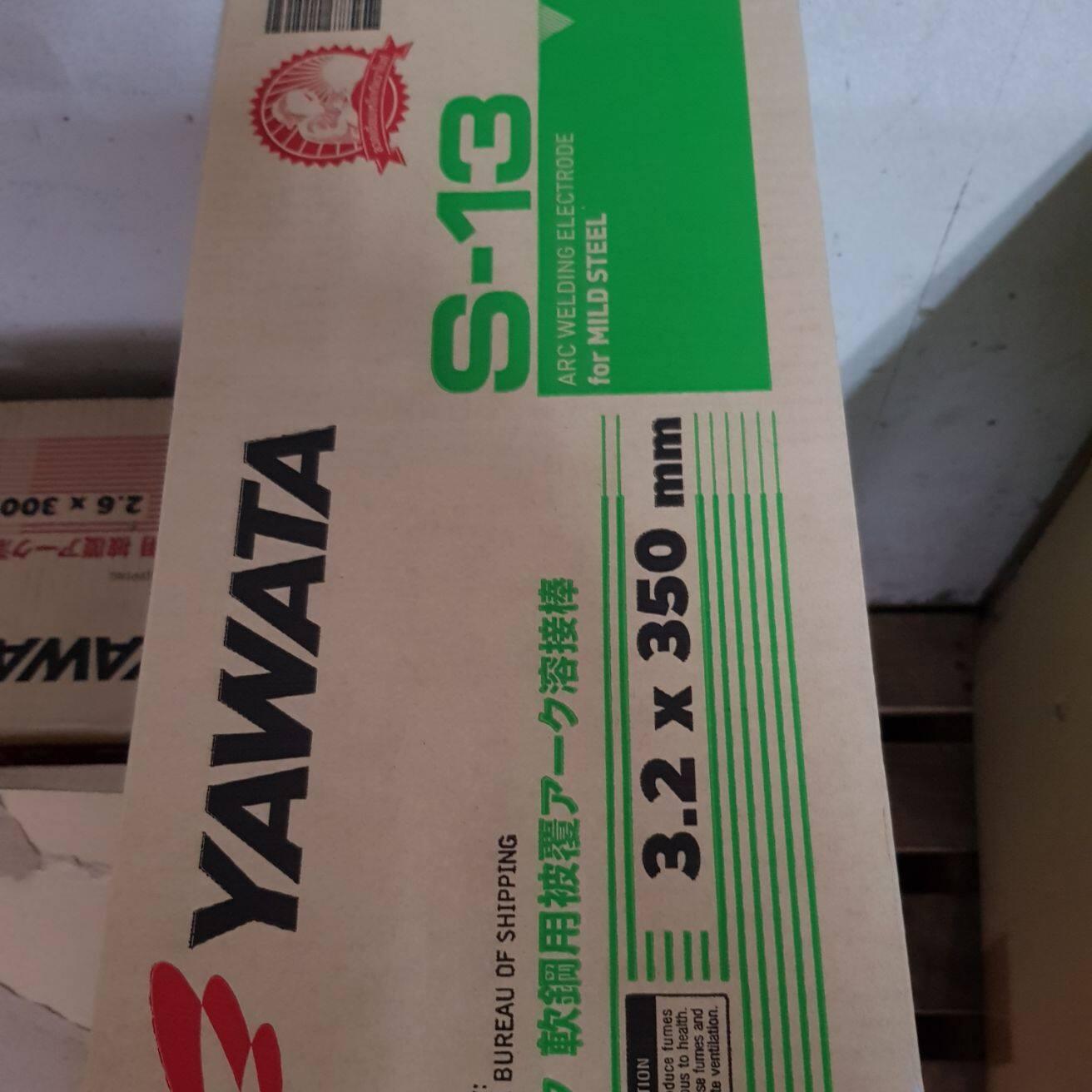Yawata s13 ลวดเชื่อม ยาวาต้า เอส13 เชื่อมเหล็กกัลวาไนซ์ ขนาด 3.2 มิล ห่อละ 5 กิโล เชื่อมง่ายและสวย YAWATA S-13