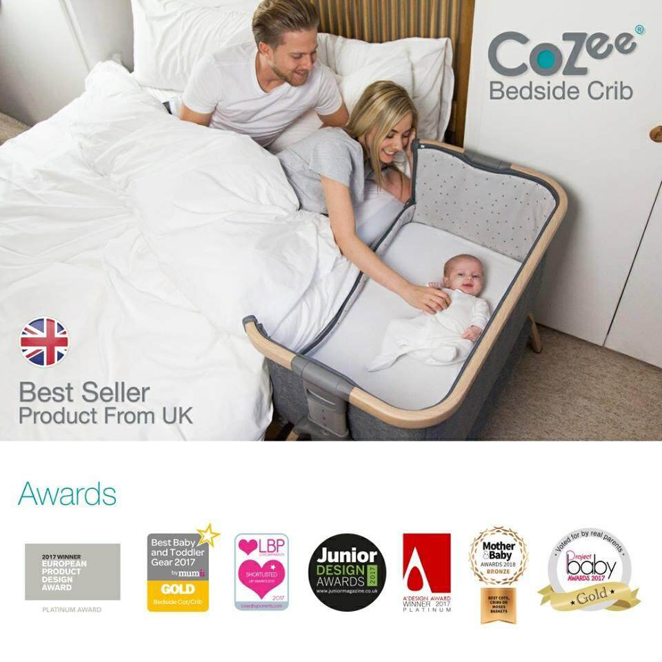 เตียง Cozee Bed Side Crib - เตียงนอนเด็กสำหรับวางข้างเตียง By Baby Best Buy.