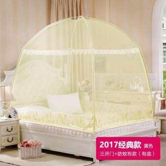 เต็นท์มุ้งเปิดได้สามที่ซิปด้านล่างไม่มีฐานกระโจมมุ้ง 1.2 เมตร 1.5m1.8m เตียงของใช้ในครัวเรือน-