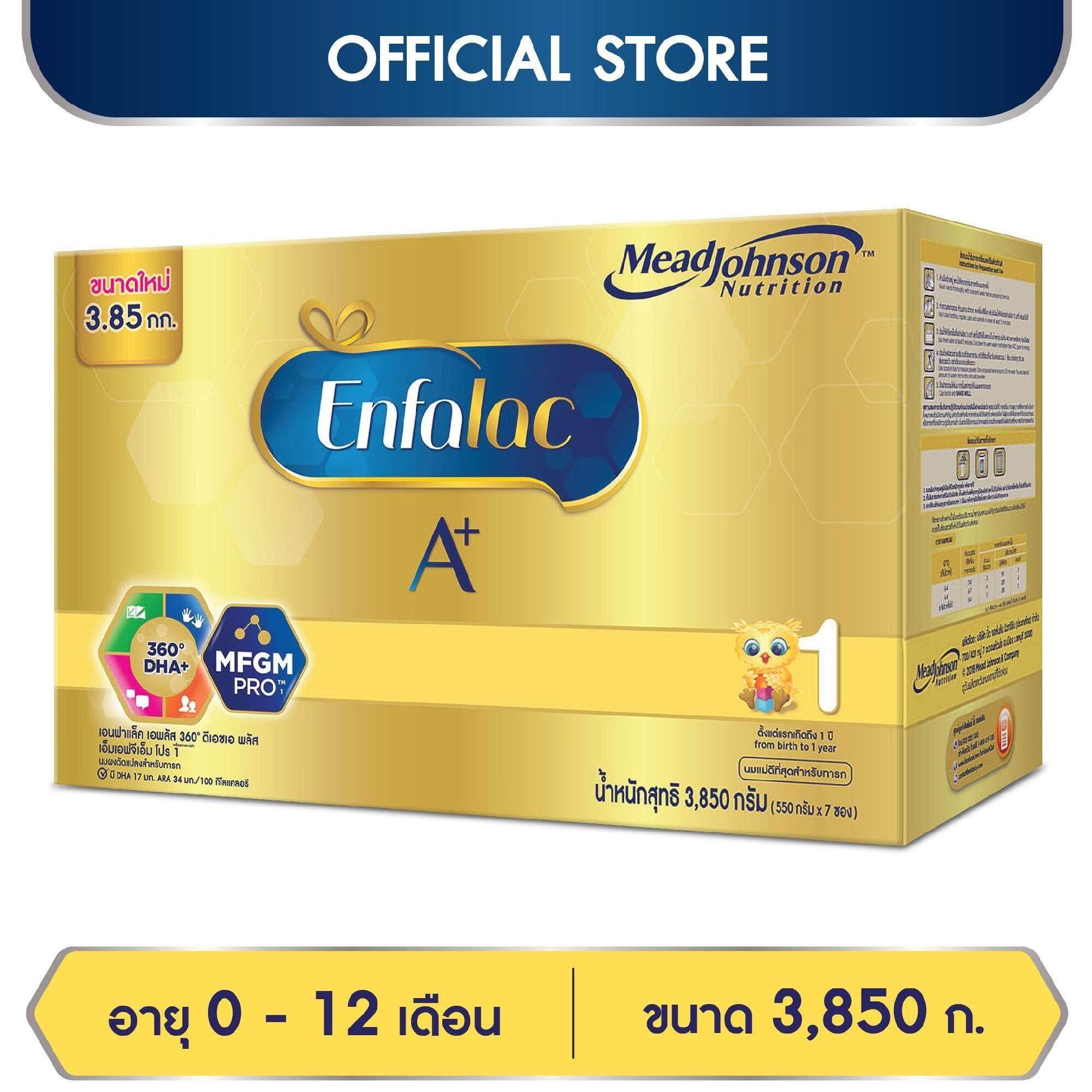 ซื้อของราคาถูก  นมผง Enfalac เอนฟาแล็ค เอพลัส สูตร 1 สำหรับ ทารก เด็กแรกเกิด เด็กเล็ก 3850 กรัม   รีวิวสินค้า ของแท้