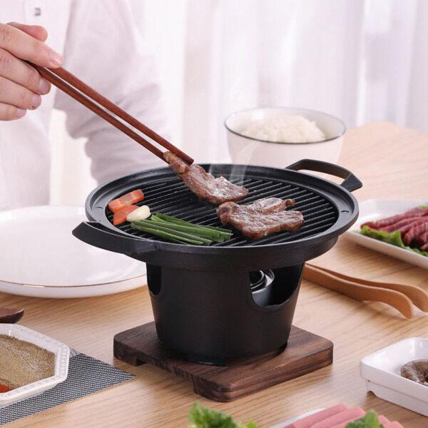 PANFATS Phong Cách Nhật Bản Sử Dụng Tại Nhà Dụng Cụ Nướng Thịt Hộ Gia Đình Phụ Kiện BBQ Nướng Mini Máy Rang Xay Nướng Than Bếp Nướng
