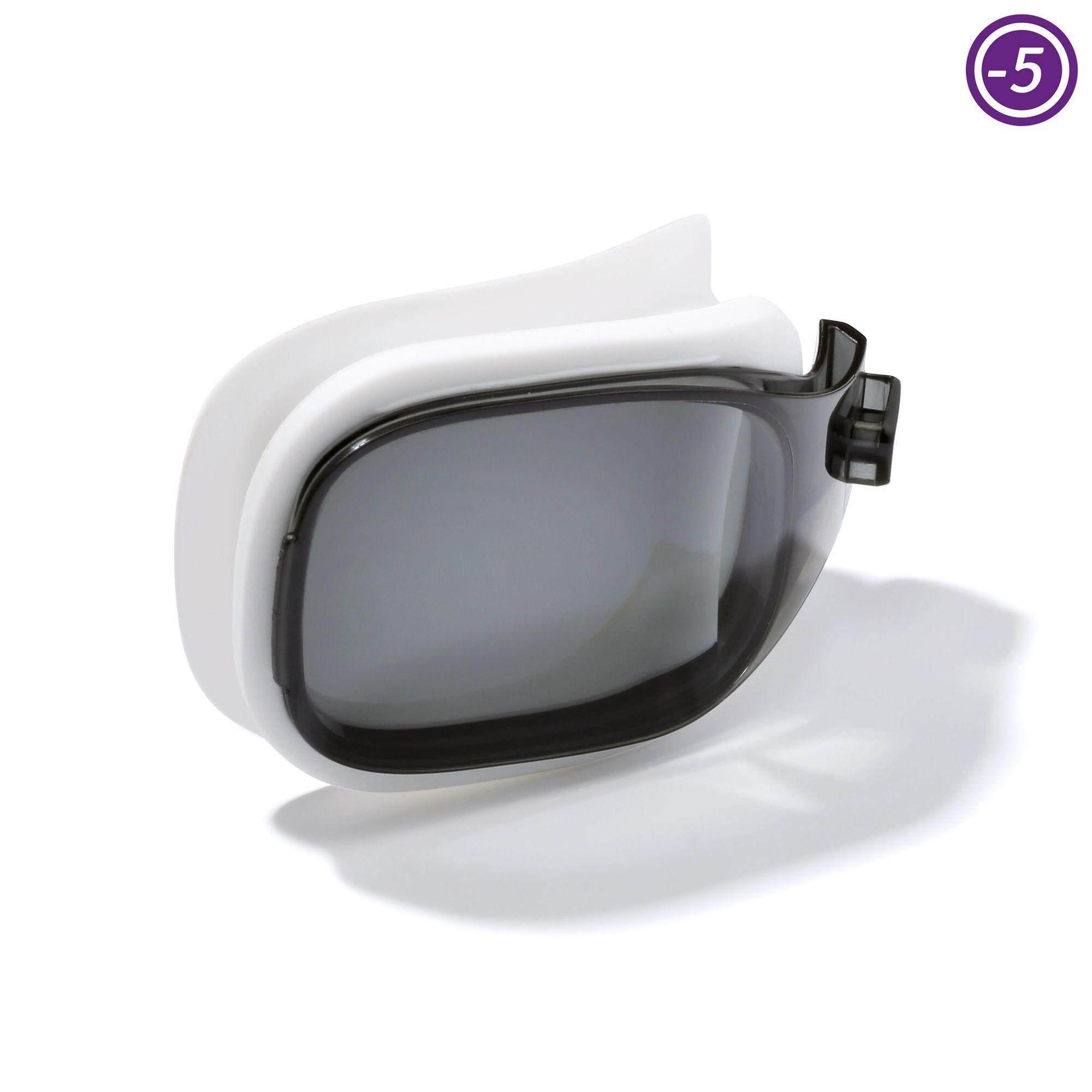 [ด่วน!! โปรโมชั่นมีจำนวนจำกัด]เลนส์ปรับสายตาสำหรับแว่นตาว่ายน้ำรุ่น SELFIT ขนาด L (สี SMOKE) สายตาสั้น -5