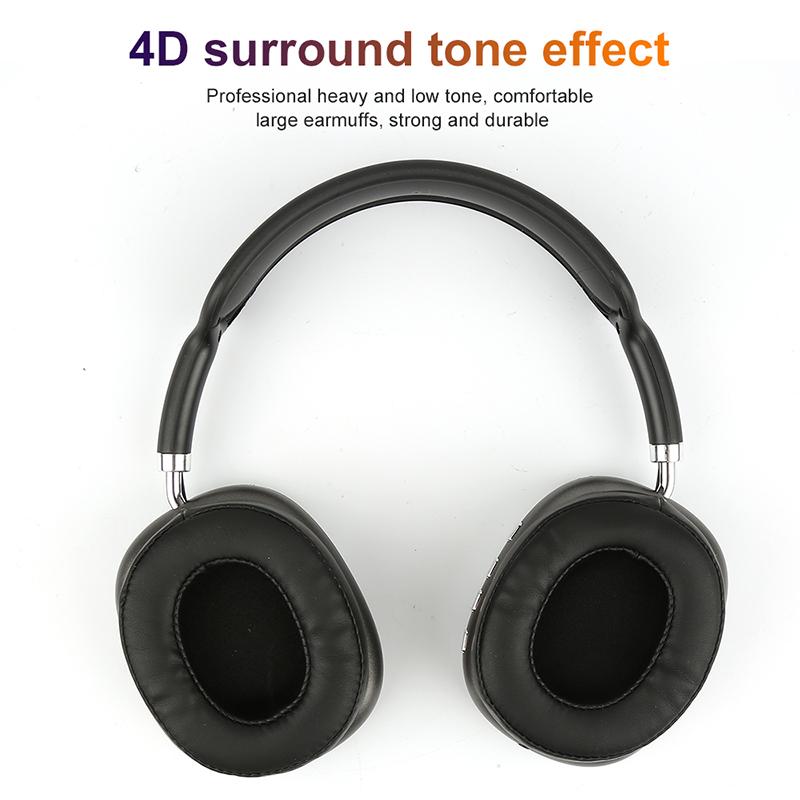 รีวิว P9 Max ชุดหูฟังหูฟังบลูทูธหูฟังไร้สาย BT Wireless Over-Ear Headphones Noise Cancelling [in stock] Gaming Headset หูฟังไร้สายตัดเสียงรบกวน