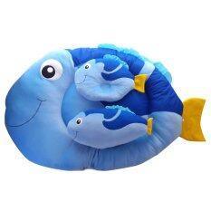 Baby Heart ที่นอนเด็กอ่อนลายปลา สีฟ้าเข้ม เป็นต้นฉบับ