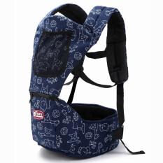 ส่วนลด สินค้า Baby Toddler Carrier Sling Multifunctional Shoulder Safety Carrier Baby Hip Seat Blue