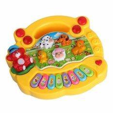 Babyblue Toyออร์แกนมินิเสียงสัตว์ Animal Farm Paino (สีเหลือง).