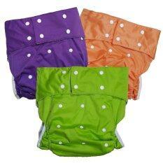ขาย Babykids95 กางเกงผ้าอ้อมผู้ใหญ่ ฟรีไซส์ เซ็ท 3 ตัว สีเขียว ม่วง ส้ม Babykids95 ออนไลน์