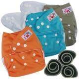 ขาย ซื้อ Babykids95 กางเกงผ้าอ้อมกันน้ำ แผ่นซับชาโคล Size 3 16กก เซ็ท3ตัว Grey Blue Orange ใน Thailand