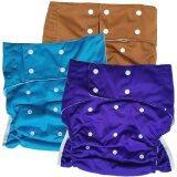 ขาย ซื้อ ออนไลน์ Babykids95 กางเกงผ้าอ้อมผู้ใหญ่ ซักได้ กันน้ำ ขอบขา 2ชั้น ปรับขนาดได้สำหรับรอบเอว 23 36 นิ้ว เซ็ท 3 ตัวพร้อมแผ่นซับ สีม่วงอมน้ำเงิน ฟ้า น้ำตาล