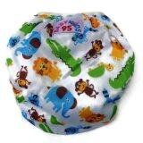 ส่วนลด Babykids95 กางเกงผ้าอ้อมว่ายน้ำ ปรับขนาดได้ ไซส์เด็กแรกเกิด 7 กก สีขาวลายสวนสัตว์ Babykids95 ใน ไทย