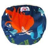 ราคา Babykids95 กางเกงผ้าอ้อมว่ายน้ำ ปรับขนาดได้ รุ่น Digital Print ไซส์เด็ก 7 13 5 กก ลายนางเงือก สีน้ำเงิน ใน Thailand