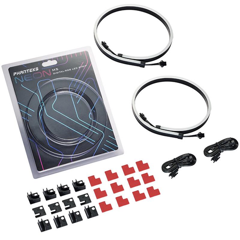 Bảng giá PHANTEKS Combo Light Strip ARGB Neon Computer Case Decoration LED Strip 5V 3PIN Light Header AURA 400mm x 2Pcs Phong Vũ