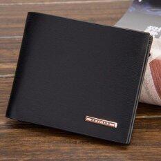 ราคา Baellerry กระเป๋าสตางค์ ผู้ชาย กระเป๋าเงิน กระเป๋าตัง บาง ทรงสั้น Wallet Mens Luxury Leather Credit Id Card Holder Baellerry Billfold Coin Purse Black ใหม่
