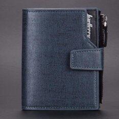 ราคา Baellerry กระเป๋าสตางค์ ผู้ชาย กระเป๋าเงิน กระเป๋าตัง บาง ทรงสั้น Wallet Mens Luxury Leather Credit Id Card Holder Baellerry Billfold Coin Purse Blue ใน Thailand
