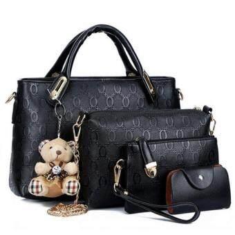 Bag DD เซ็ต4ใบ กระเป๋าแฟชั่น รุ่น2101 (สีดำ)
