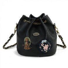 ขาย Bag Dd กระเป๋าสะพายข้างแฟชั่น ทรงขนมจีบสายโซ่ถัก สีดำ รุ่นJpg ราคาถูกที่สุด