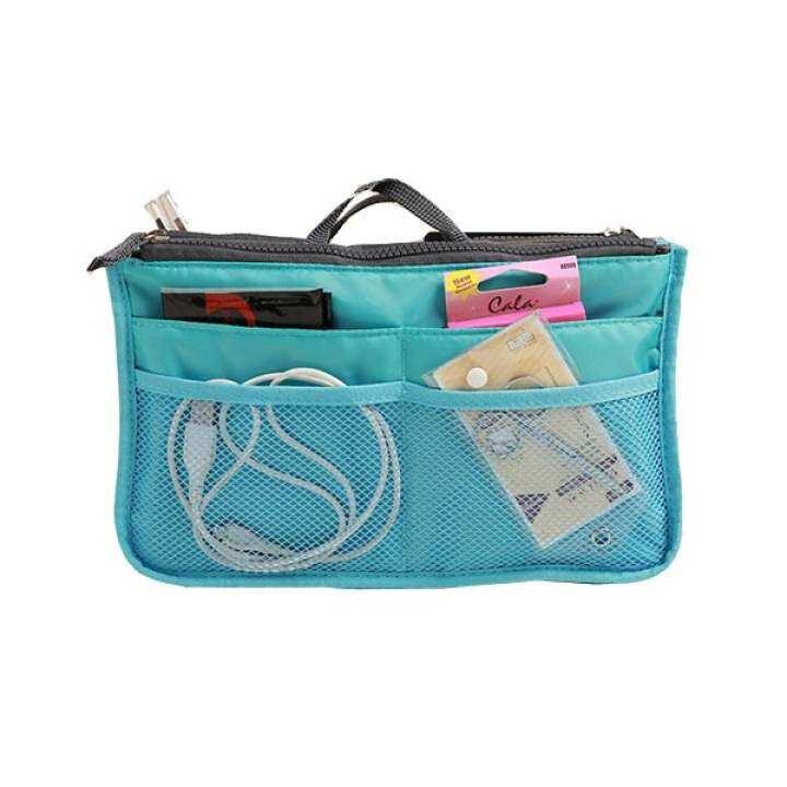 โปรโมชั่น Bag in Bag กระเป๋าจัดระเบียบ (สีฟ้า)