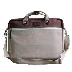 Bagyard กระเป๋าโน็ตบุ้ค ผ้าแคนวาสฟอก 14 ออนซ์ รุ่น Bag Note Size M สี น้ำตาลอ่อน น้ำตาลเข้ม เป็นต้นฉบับ