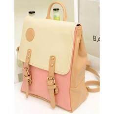 ซื้อ Bamboo Backpack กระเป๋าเป้สะพายหลังพาสเทล ขาว ชมพู ใหม่