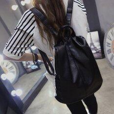 โปรโมชั่น Banana Shop กระเป๋าเป้สะพายหลัง กระเป๋าเป้เกาหลี กระเป๋าสะพายหลังผู้หญิง Backpack Women รุ่น Lp 078 สีดำ Banana Shop