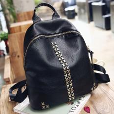 ซื้อ Banana Shop กระเป๋าสะพายหลัง กระเป๋าเป้ กระเป๋าแฟชั่นผุ้หญิง รุ่น Lp 076 สีดำ ใหม่ล่าสุด