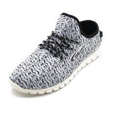 ขาย ซื้อ Baoji รองเท้าผ้าใบ สำหรับผู้ชาย สีขาว ดำ รุ่น Dk99436 Size 41 45